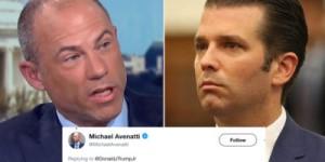 Avenatti and Trump Jr