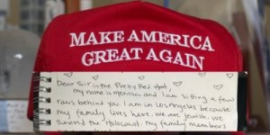 MAGA hat and letter