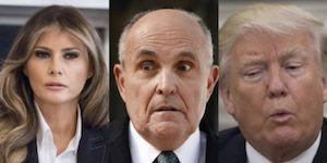 Trump, Giuliani and Melania