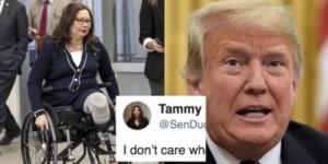 Tammy Duckworth and Trump