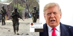 Trump and Nigerian troops