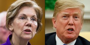 Warren and Trump