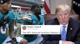Kneeling players and Trump