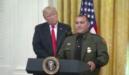 Trump and Border Patrol Agent